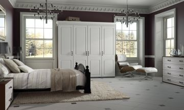 Satin White Bedroom Doors - By BA Components