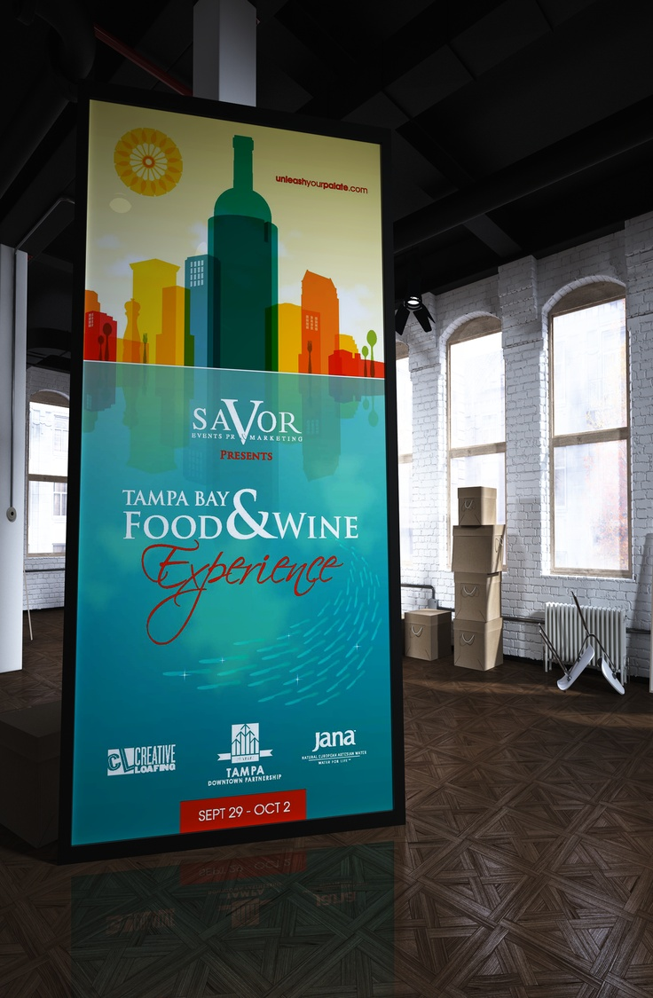 Food and Wine Festival Creative Poster #theclearagency
