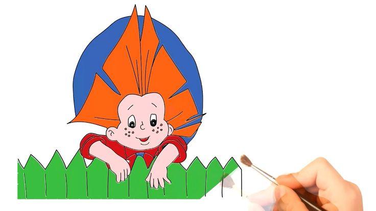 Как нарисовать Незнайку литературный персонаж