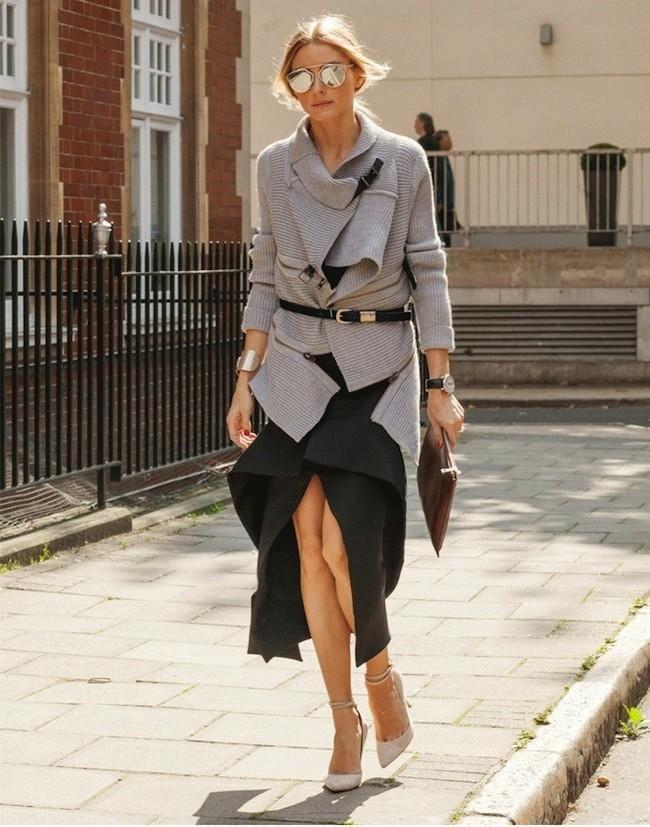 Olivia Palermo nos da algunas claves para vestir durante una Semana de la Moda. Tendencias de Otoño-Invierno 2014/2015. Burberry Prorsum, Matthew Williamson