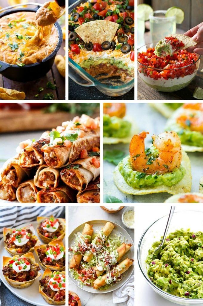 Mexican Appetizer Recipes Including Taco Cups Guacamole And Shrimp Bites Mexican Food Recipes Appetizers Mexican Appetizers Mexican Food Recipes