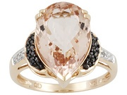 Cor-de-rosa Morganite, Black & White Diamonds, I WANT THIS!
