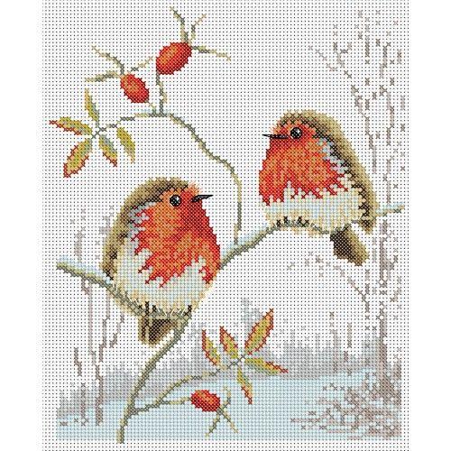Winter Robins Cross Stitch Pattern | Lucie Heaton Cross Stitch Designs