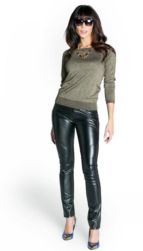 Pilar Rubio With Q2 Leggings Q2 Amp Celebrities Leather