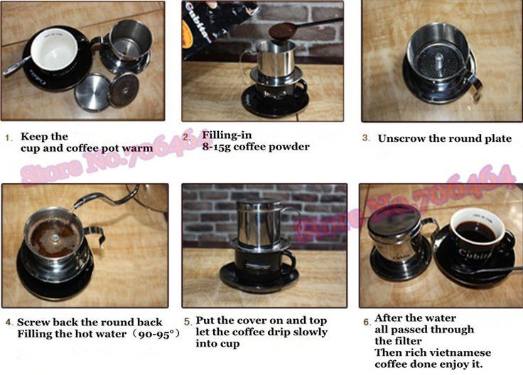 Filter Coffee Maker Manual : Aliexpress.com : Buy Vietnam coffee dripper Free shipping Vietnam drip coffee maker manual ...