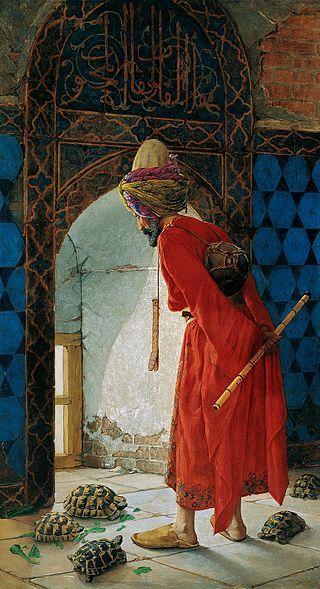 Osman Hamdi Bey - 1906 Kaplumbağa Terbiyecisi