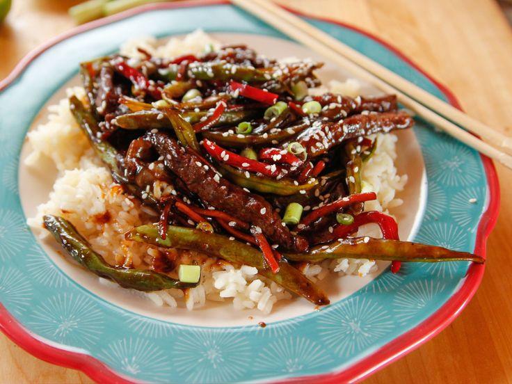Teriyaki Beef Stir-Fry recipe from Ree Drummond via Food Network