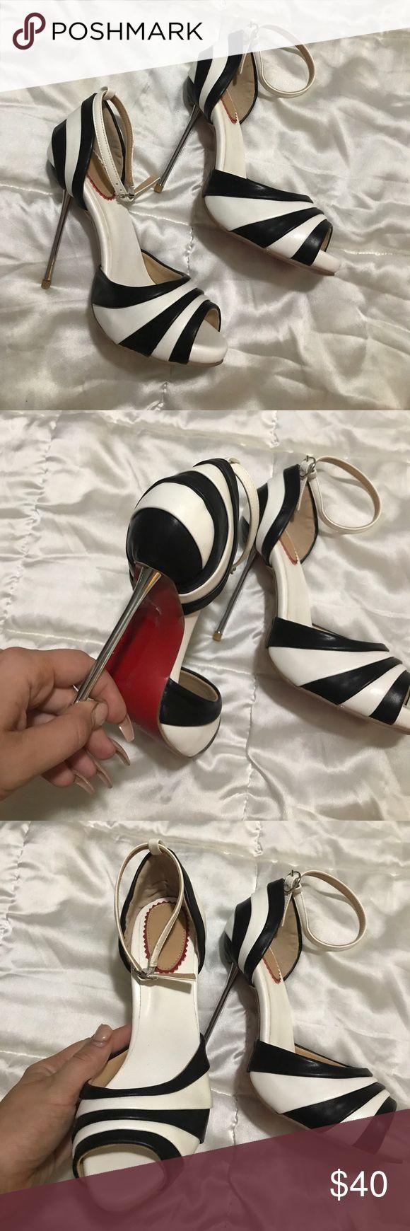 Zebra heels Tall Shoes Heels