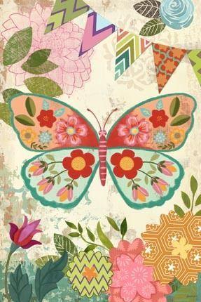 Boho Butterfly Vert by Jennifer Brinley
