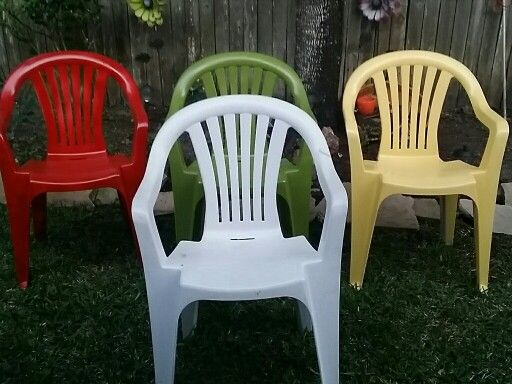 1000 images about plastic chairs on pinterest the plastics how to spray paint and furniture Painting plastic garden furniture