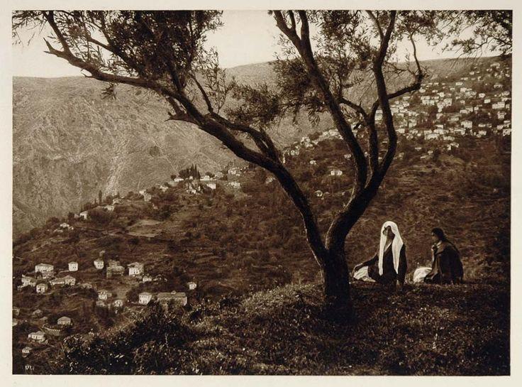 1928 Makrynitza Makrinitsa Pelion Greece Village Houses - ORIGINAL GREECE
