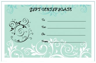 The following Blank Gift Certificate Template can be customized and all of the text on the certificate can be edited easily. Even you can change the main title. http://www.free-certificate-templates.org/blank-gift-certificate-template.html #BlankGiftCertificate #BlankGiftCertificateTemplate #PrintableBlankGiftCertificate #BlankGiftCertificateFormat #FreeBlankGiftCertificate #printablecertificate #CertificateTemplates #certificates #freecertificates