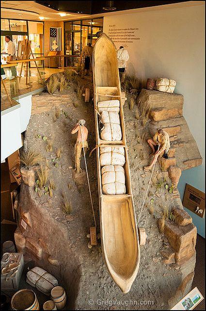 Lewis & Clark Visitor Center exhibit, Great Falls, Montana; photo by Greg Vaughn