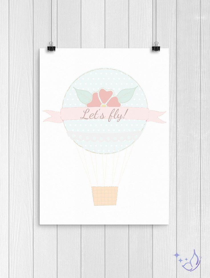 Let's Fly! - Air Baloon Printable by DayDreamingArtShop on Etsy