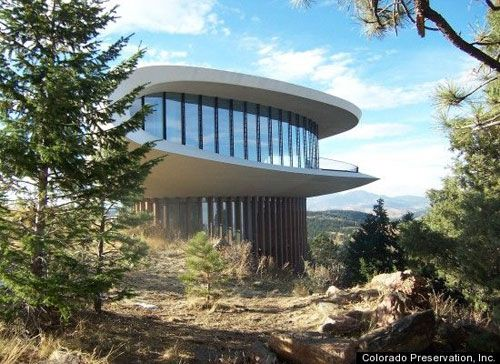 Charles Deaton Sculptured House, Denver Colorado.   1960  This would be what we always called the Jetson's house when we would see it.