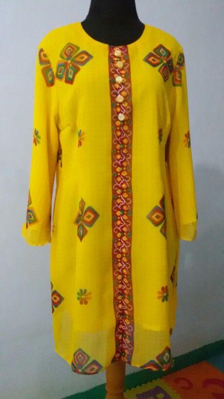 Blouse dr kain sari full furing
