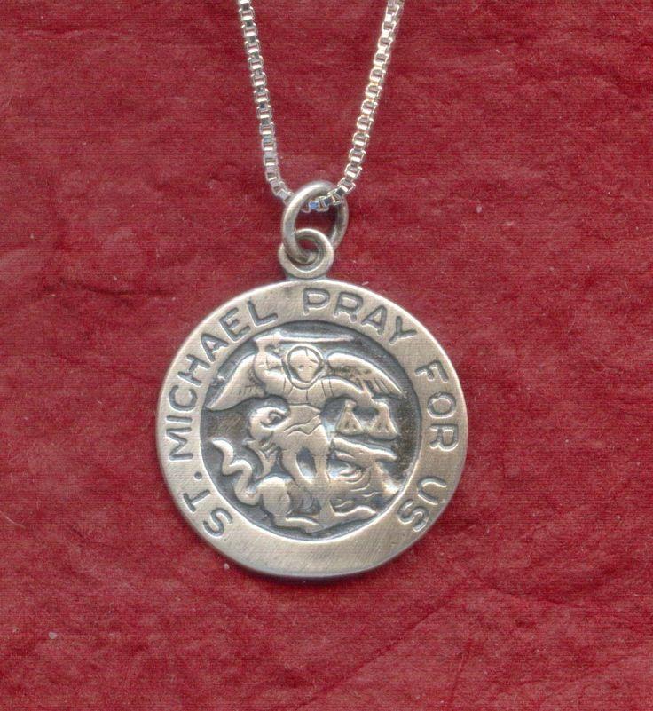 Juzii Jewelry - Sterling Silver St MICHAEL Necklace 925 Charm Pendant n Chain Archangel Saint, $24.31 (http://www.juzii.net/sterling-silver-st-michael-necklace-925-charm-pendant-n-chain-archangel-saint/)