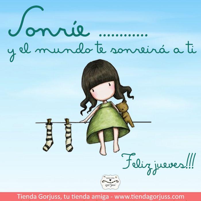 Sonríe :) Y el mundo te sonreirá a ti. Feliz Jueves !!! #FelizJueves #Gorjuss…