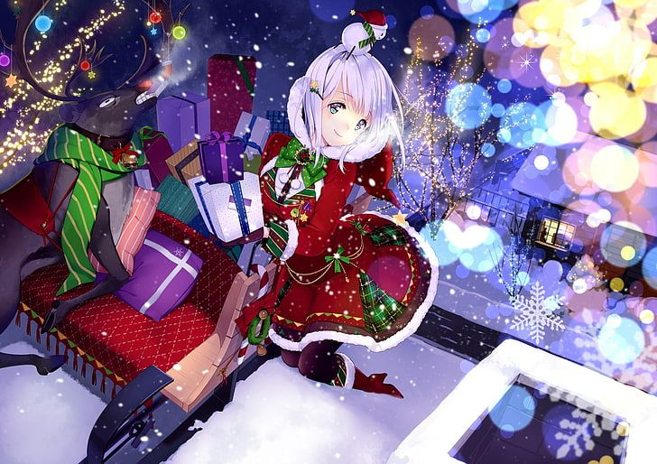 Pin On Anime Background wallpaper anime christmas