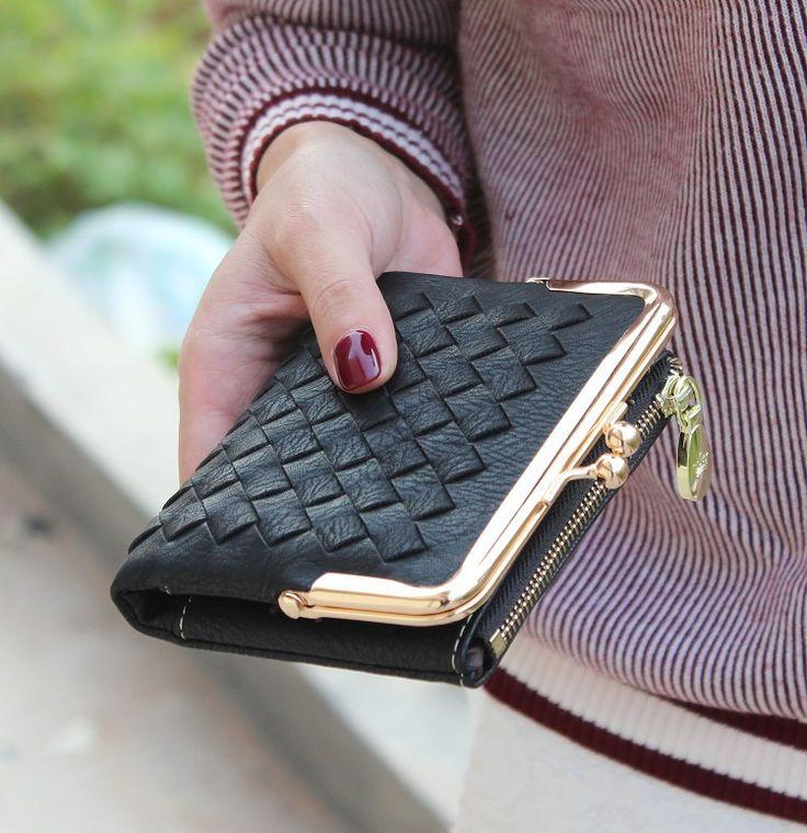 Nuovo stile Europeo e Americano del tessuto del raccoglitore dell'annata portafoglio donna marca piccolo disegno della serratura delle donne della borsa piccola moneta cerniera