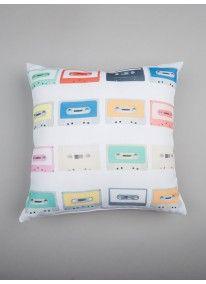 Nostalgic Casette Scatter Cushion Multi-colour