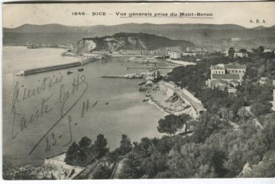 S R A Postcard - Nice, Vue générale prise du Mont-Boron, c.1911