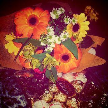 #flowers  #bouquet #gift #romantic #chocolate
