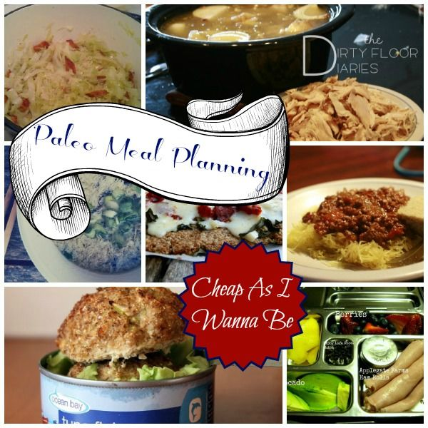 Paleo Meal Planning - a Week's worth of Paleo Meals, complete with a Printable Shopping List