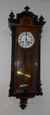 antique 2 weight walnut u0026 ebony vienna regulator wall clock by lenzkirch