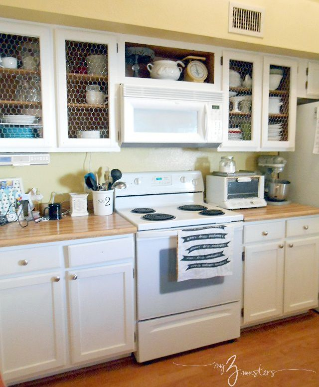 diy kitchen cabinets makeover best 25 chicken wire cabinets ideas on 6834