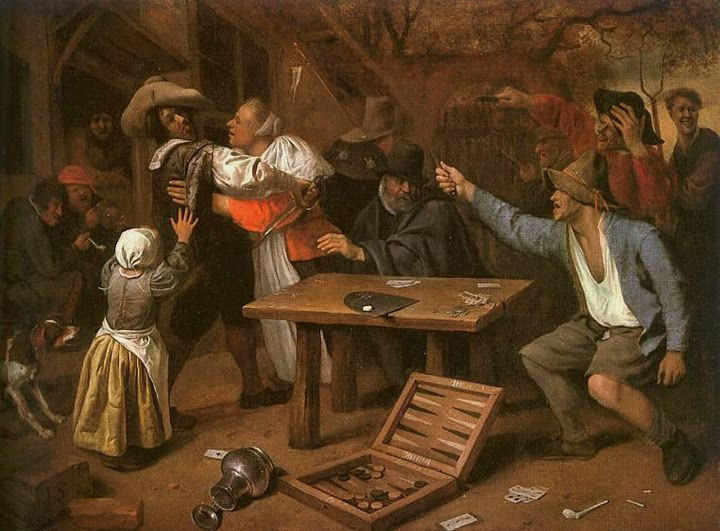Jan Steen, Card Players Quarreling 1664f