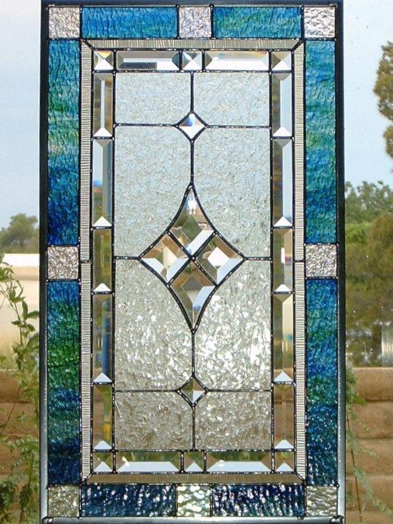Stained glass Window Panel Velvet n Lace por glassmagic en Etsy