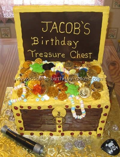 How to make a pirate chest cake
