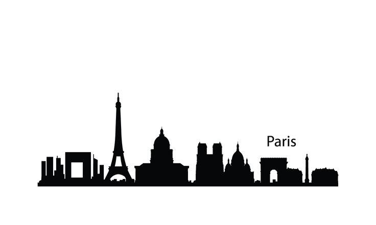 london city skyline silhouette | Paris Skyline Silhouette 1500.900