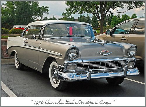 1956 Chevrolet Bel Air Sport Coupe..Re-pin brought to you by agents of #Carinsurance at #HouseofInsurance in Eugene, Oregon
