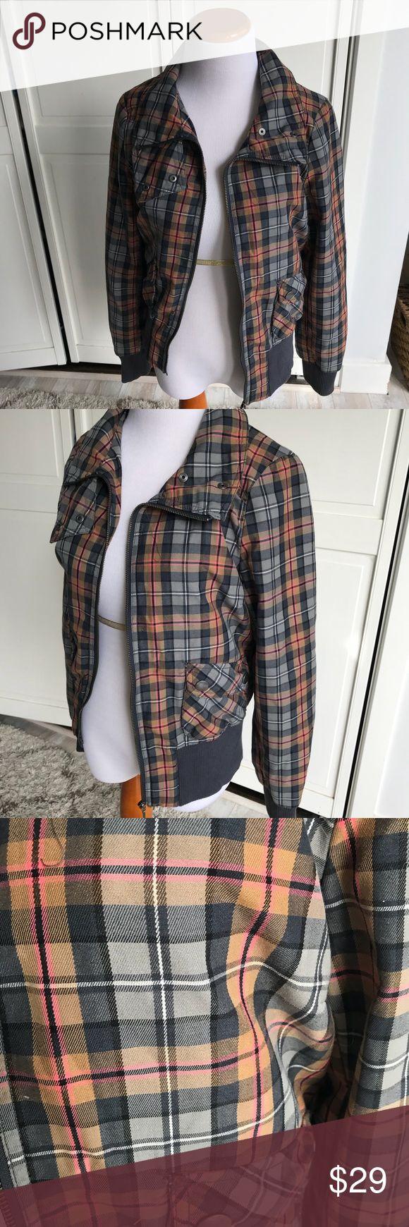 H&M plaid bomber jacket size small Bomber jacket