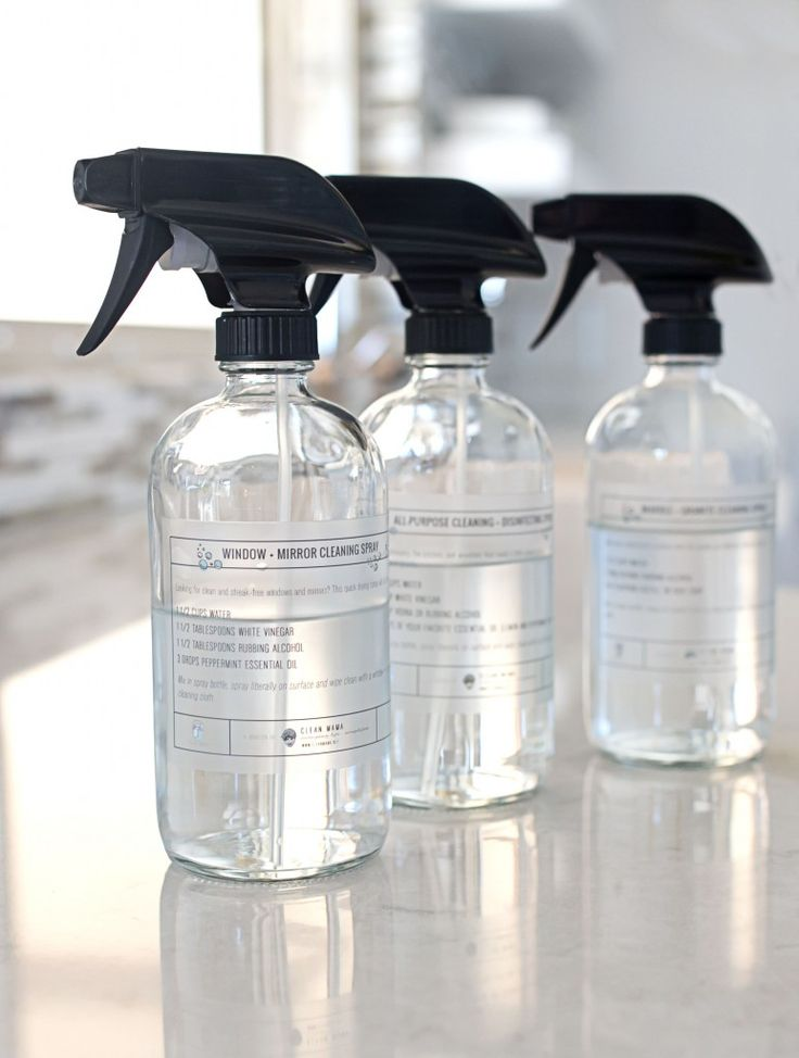 Love these glass spray bottles, perfect for making your own cleaners and affordable too!