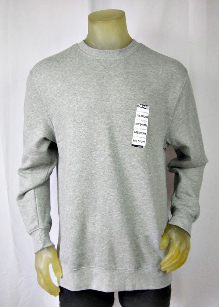Joe Boxer Men's Gray Crew Sweatshirt Soft & Warm Medium NEW Cotton Blend #JoeBoxer #SweatshirtCrew
