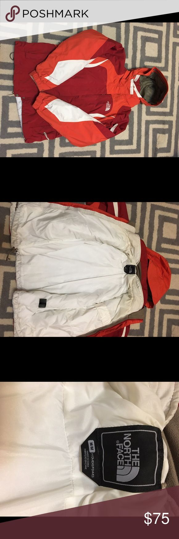 The North Face coat The North Face winter coat perfect for cold weather, extremely warm, comes with outer shell and inside liner, liner can be removed and inserted, hood can be attached and removed, size medium, good condition. North Face Jackets & Coats