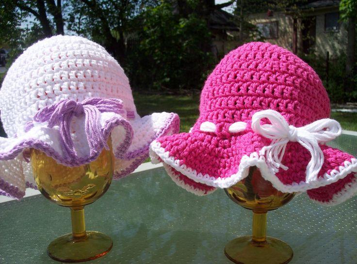 Crochet-Sun-Hats-free pattern-wonderfuldiy5