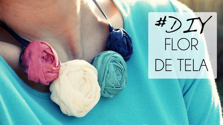 TUTORIAL DIY Flor enrollada de tela