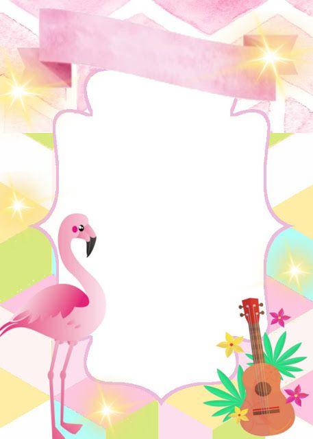 decorando minha festa  convite flamingo free