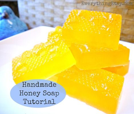 Homemade honey soap tutorial-- gentle on your skin and the environment