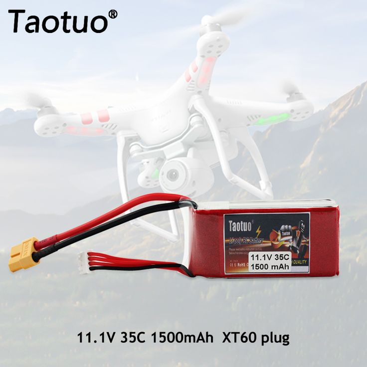 2pcs Taotuo Bateria Lipo Battery 11.1V 1500Mah 3S 35c T XT60 For RC Quadcopter Drone Helicopter Car Truck Boat Airplane Toy Part //Price: $28.46 & FREE Shipping //     #RCBoat