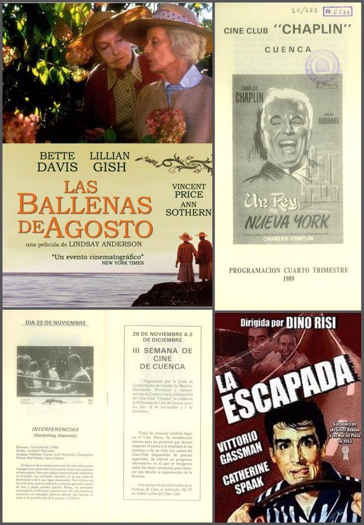 """Programación Cine-Club """"Chaplin"""" cuarto trimestre 1989. Se celebra la III Semana de Cine de Cuenca entre el 28 de noviembre y el 2 de diciembre. #CineClubChaplin #CineXucar #SemanaCineCuenca #Cuenca #Cine"""
