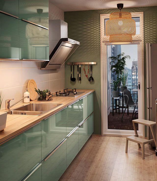 cuisine ikea 2016 vert clair recherche google kitchen. Black Bedroom Furniture Sets. Home Design Ideas