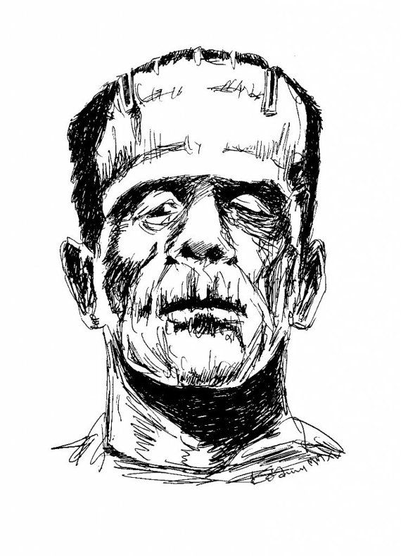 Unique, original design for Frankenstein fans. This file You can use as a T-shirt design, poster or design on paper. Also as a part of your blog