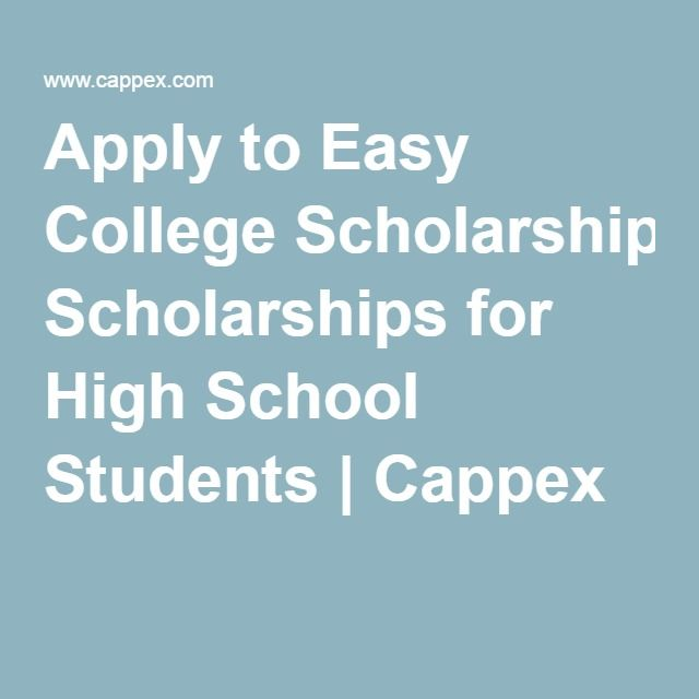 easy scholarships for college College scholarship without essay or gpa requirements easy scholarship  application for high school and college students.