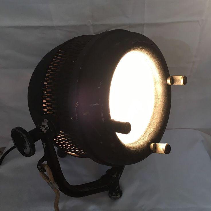 Vintage 1930s Beattie Hi-lite Hollywood Theater Light Working Manual Spotlight #Beattie