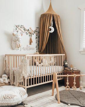 Chambre bébé style bohème  #nursery #boho #baby